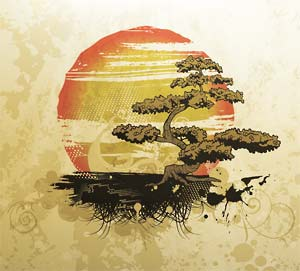 Bonsai Dirt Vector Vintage