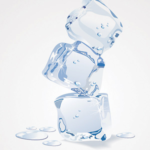 ice cube pile vector graphics illustrator